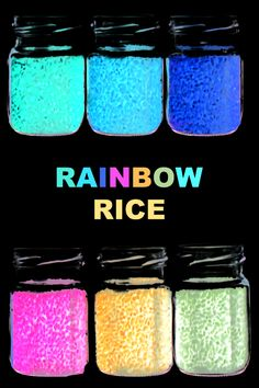 Make rainbow rice for kids that glows in the dark! This neon rice is easy to make and so fun! Easy Crafts To Sell, Fun Arts And Crafts, Fun Crafts For Kids, Diy Home Crafts, Craft Stick Crafts, Diy For Kids, Family Crafts, Sell Diy, Educational Activities For Preschoolers