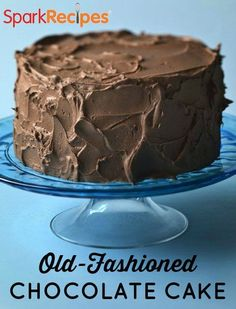 Old-Fashioned Chocolate Fudge Cake. THE BEST chocolate cake!! Healthier than most, too! | via @SparkPeople #cake #chocolate #recipe