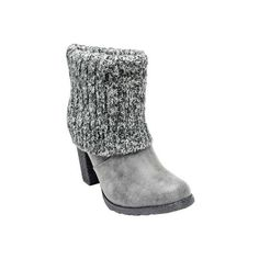 Women's MUK LUKS Chris Boot - Grey Ankle Boots ($62) ❤ liked on Polyvore featuring shoes, boots, ankle booties y grey