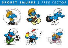 Sportieve Smurfen Gratis Vector