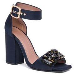 Marni Jeweled Ankle-Strap Block-Heel Sandals #bridalshoes #wedding