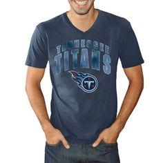 new product 8fbdb b4e4e Tennessee Titans Xavier V-Neck T-Shirt - Navy Blue