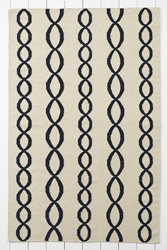 Wool Cable Dhurrie Rug from Lands End