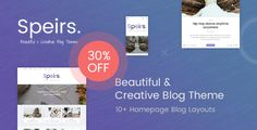 Speirs - Beautiful and Creative WordPress Blog Theme