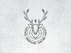 Dribbble - Vintage Fantasy Hunting Logo by Mathias Temmen