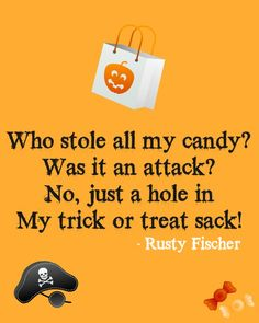Funny Halloween Quote: Candy attack... A Halloween poem