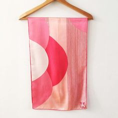 Vera Neumann Scarf Peoples Republic of China Scarf Series 1974 Collectible Long Freya Bikini, Shades Of Peach, Pin Hole, Hand Roll, Stripes, Silk, Prints, Collection, Etsy