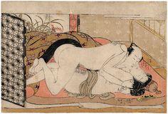 TSUKIOKA SETTEI (1710-1786), Couple d'amants