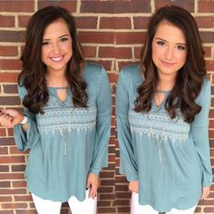 Green Taupe Print Top