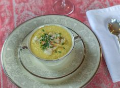 Chilled Cream of Corn and Crab Soup with White Truffle Oil ¦ The Taste of Oregon