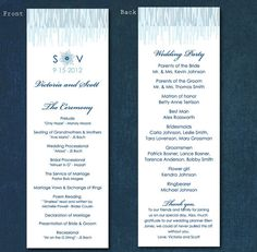 Winter Wedding DIY or Printed Wedding Programs  Two by dollibee, $49.99