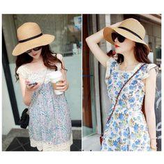 41be0f1cfe8 Buy Fashion Elegant Women Girls Outdoor Sun Hats Caps Summer Beach Hat New