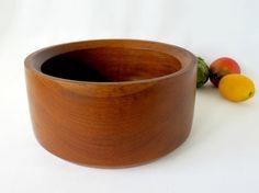 1960's Mid Century Danish Modern Teak Wood Bowl - Eames Era Good Wood Teak Salad Bowl, made in Thailand by GSaleHunter on Etsy