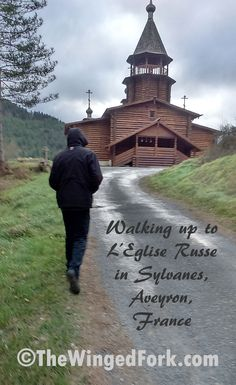 Walking up to L'Eglise Russe in #Sylvanes, #Aveyron, #france