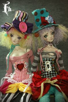 Jin and Jan , Porcelain BJD dolls by  FHdolls.deviantart.com on @deviantART