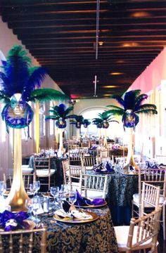Mardi Gras themed reception at the Prebytere, photo courtesy of @NewOrleansCatering