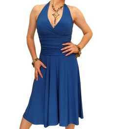 Blue Banana - Cobalt Blue Halter Neck Dress Size 10 Blue Banana,http://www.amazon.com/dp/B002KMBFRS/ref=cm_sw_r_pi_dp_2dSNrbB35E294DA6
