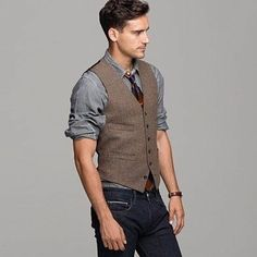 This is totally my outfit! I've got it all except the damn brown tweed vest!!