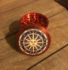 Astrology horoscope sun 55mm 4 part custom herb grinder.