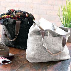 Enzyme-Washed Linen : Charcoal & Ash Linen Bags, All Gifts: Store Name