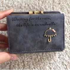 Gray Cute Pu Leather Wallet