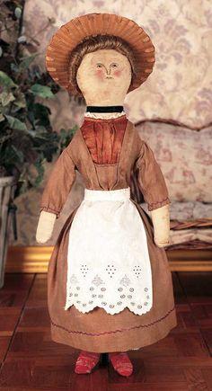 american cloth folk art doll