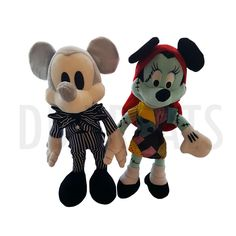 Disney Parks The Nightmare Before Christmas Mickey Mouse Minnie Mouse Plush Set Mickey Mouse and Minnie Mouse fall in love all over again in a whole new way and no better love then of Jack Skellington