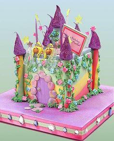 Rainbow castle cake