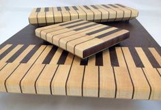 End Grain (Key) Board Collection. End Grain Cutting Board, Diy Cutting Board, Wood Cutting Boards, Chopping Boards, Woodworking Plans, Woodworking Projects, Cnc Projects, Kitchen Board, Small Wood Projects