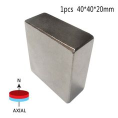 1 pcs Block 40x40x20mm N52 Super Strong Rare Earth magnets Neodymium Magnet  high quality Newest with Weak magnetic packaging