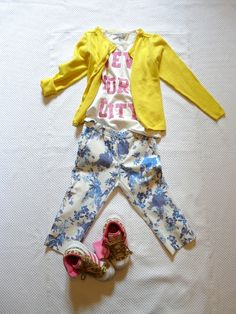 ZARA KIDS 2013 FLOWERS and YELLOW on www.fiammisday.com  outfit for kids