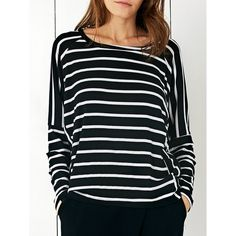 $19.99 Batwing Sleeve Striped T-Shirt