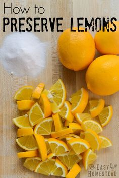 How to Preserve Lemons (Fermented Lemons) Fermentation Recipes, Canning Recipes, Kombucha, Konservierung Von Lebensmitteln, Home Canning, Canning Tips, Canned Food Storage, Real Food Recipes, Healthy Recipes