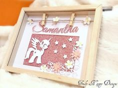 Personalised Name Picture Frame birthday gift present Xmas baby girl boy wedding Unicorn Pictures, Name Pictures, Handmade Frames, Handmade Gifts, Birthday Crafts, Birthday Ideas, Baby Frame, Princess Theme, Christmas Gifts For Girls