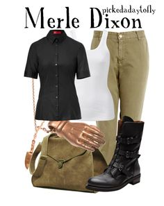 """""""Merle Dixon"""" by pickedadaytofly ❤ liked on Polyvore featuring Current/Elliott, Forever New, Maison d'usQ, Buttero and HUGO"""