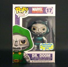 Funko Pop Dr.Doom Metallic Marvel Bangkok Comic Con Exclusive 2014 Paint Error #FUNKO