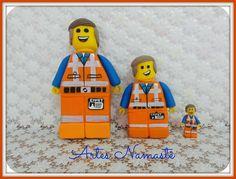 Bonecos Emmet - Lego Movie, modelados em biscuit