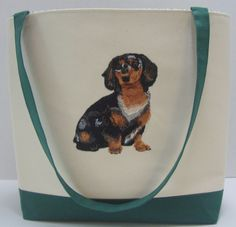 Long Haired Dachshund by grettasembroidery on Etsy