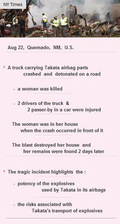 Takata truck crash & detonate; woman killed #Takata #VC #funding #startup #VC http://arzillion.com/S/82Sosb