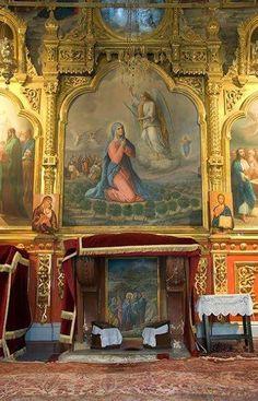 """Ο Ναός αυτός ονομάζεται «Μεγαλύνει η ψυχή μου τον Κύριο"""",και είναι αφιερωμένος στην Υπεραγία Θεοτόκο. Painting, Food Styling, Mother Mary, Painting Art, Paintings, Painted Canvas, Drawings"""