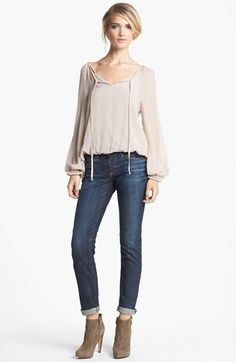 Ella Moss Top & AG Jeans Relaxed Jeans  available at #Nordstrom