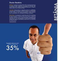 Campanha focando na credibilidade do cliente Betânia, no mercado.