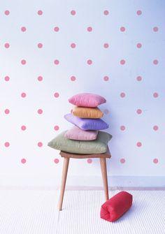 Schablonen - Tupfen, dekorative Wandschablone - ein Designerstück von StenCilit…