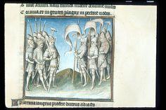 Publius Papinius Statius Thebais , with the argumenta antiqua; Achilleis, Francja, ok. 1405, f54