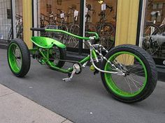 I want this bike! Tricycle Bike, Trike Bicycle, Cruiser Bicycle, Motorized Bicycle, Motorcycle Bike, Motorcycle Touring, Cool Bicycles, Cool Bikes, Monocycle