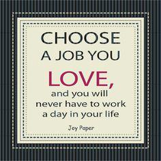 Love your Job  www.joypaper.com.br