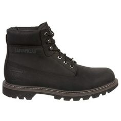 Caterpillar Men s Watershed Lace Up Waterproof Boots (Black) Caterpillar  Shoes 6dc6cd86915