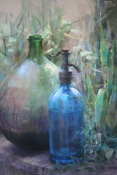 Claude Texier #pastel. This is fabulous. The colors and technique are dreamy.
