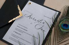 night, zaproszenie noc, czarne zaproszenie, miodunka papeteria, wedding invitations black and gold Wedding Stationery, Wedding Invitations, Wedding Invitation
