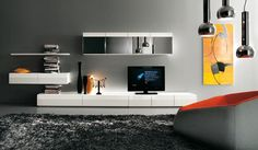 Modern tv wall units modern tv wall unit modern built in tv wall unit designs india . Wall Unit Designs, Tv Wall Design, Ikea Design, Ensemble Mural Tv, Wall Mounted Tv Unit, Modern Tv Wall Units, Simple Tv, Simple Style, Simple Home Decoration